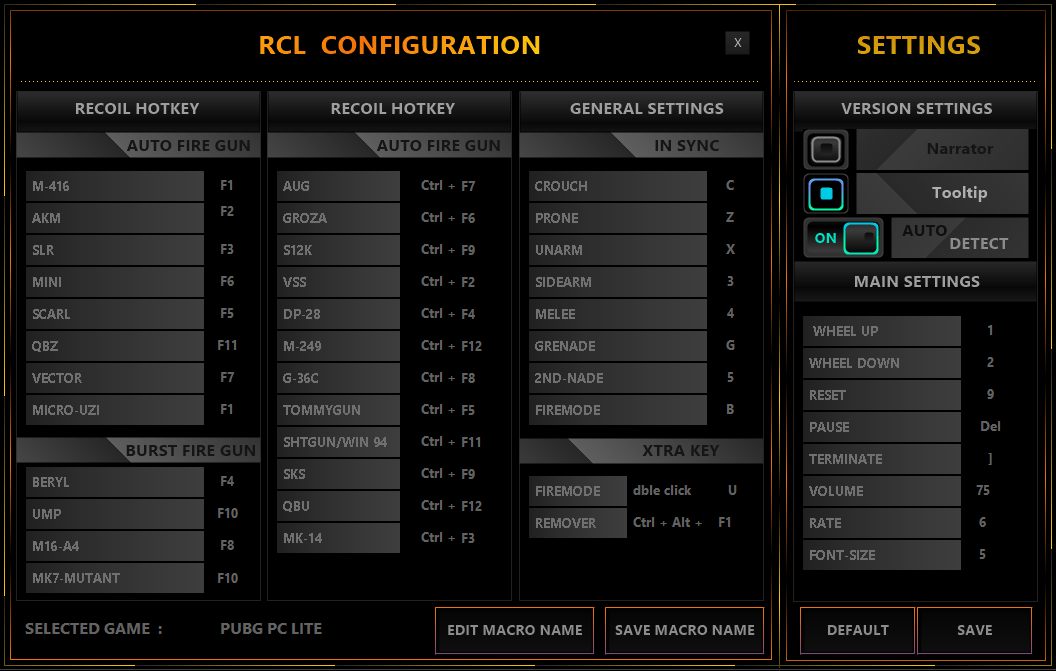 rcl recoil engine configuration